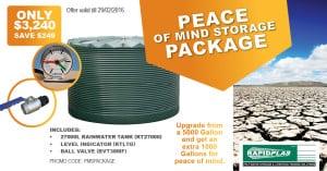 Peace of mind storage package - Garden Supplies Brisbane - Gleam O' Dawn Rural Store