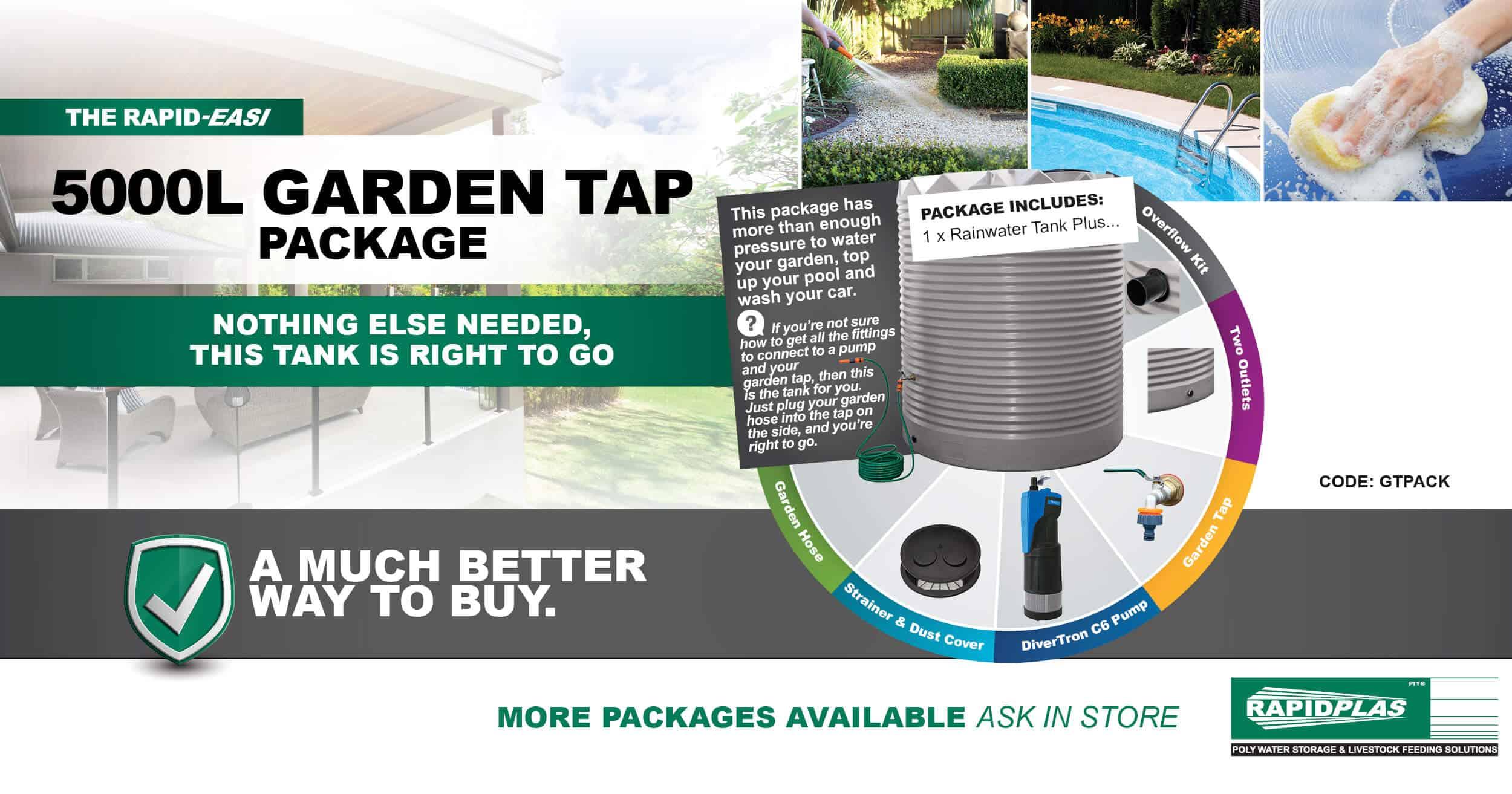 5000L Garden Tap Package