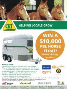 Win $10,000 PBL Horse Float large - Horse Supplies Brisbane - Gleam O' Dawn Rural Store