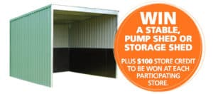 Win a stable, pump shed or storage shed - Garden Supplies Brisbane - Gleam O' Dawn Rural Store